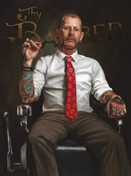 Trust Thy Barber by Vincent Kamp - Limited Edition on Canvas sized 15x20 inches. Available from Whitewall Galleries